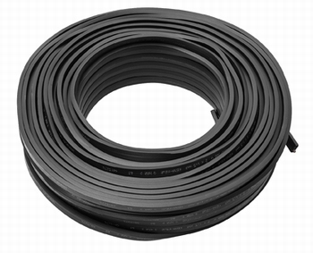 prikkabel 100 meter zwart 2x2,5mm² Draka