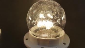 Led lamp warm wit transparant kap