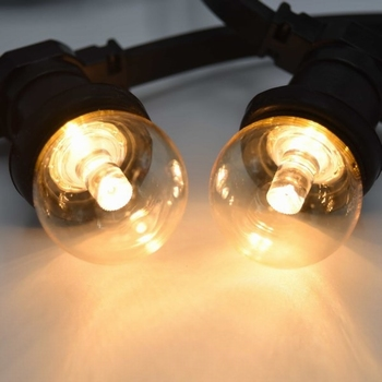 Led lamp warm wit transparant met lens