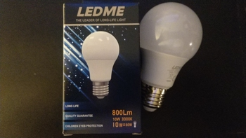 Led lamp warm wit