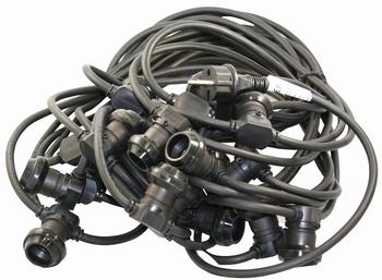 Belt light 20 meter met 20 fittingen ronde kabel