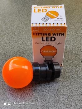 Prik-ledlamp oranje IP65 1 watt