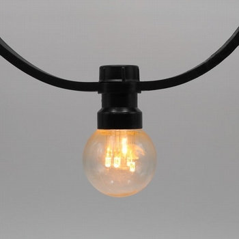 Prikkabels met verlijmde ledlamp warm wit trans.kap 20-20
