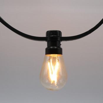 Prikkabels met verlijmde ledlamp dimbare filament led 10-30