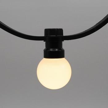 Prikkabels met verlijmde ledlamp warm wit melk kap 100-200