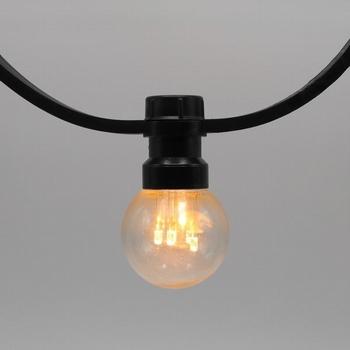 Prikkabels met verlijmde ledlamp warm wit trans.kap 25-100