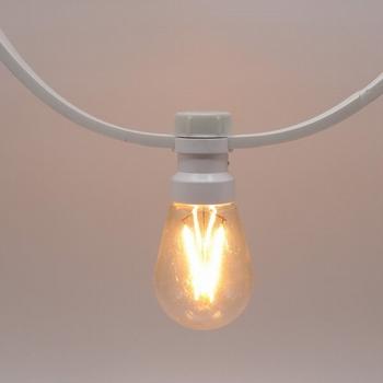 Prikkabels met verlijmde ledlamp dimbare filament led 20-20
