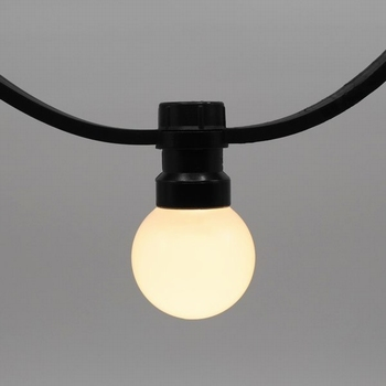 Prikkabels met verlijmde ledlamp warm wit melk kap 25-100