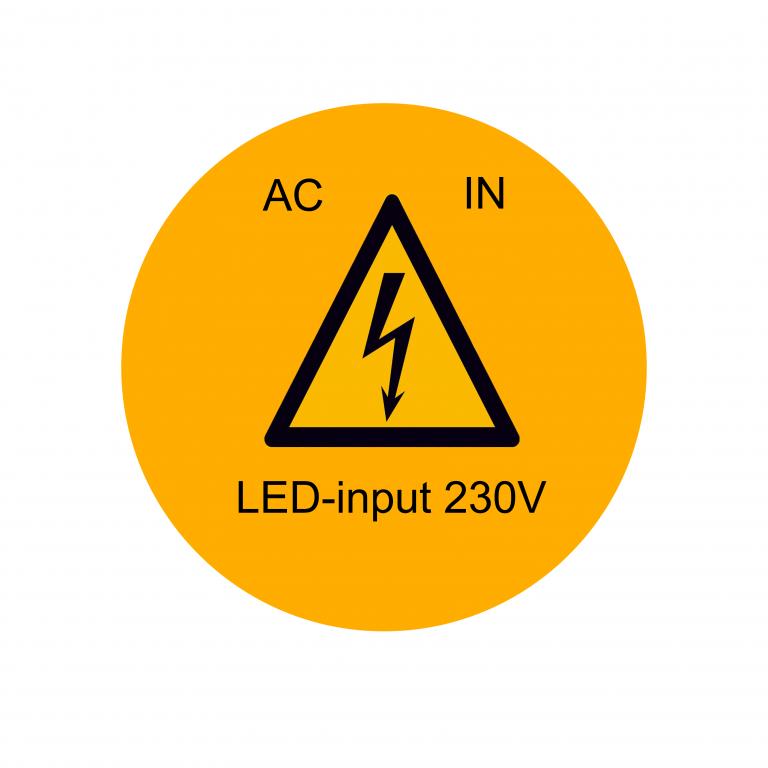 ETIKETTEN LED-INPUT 230V