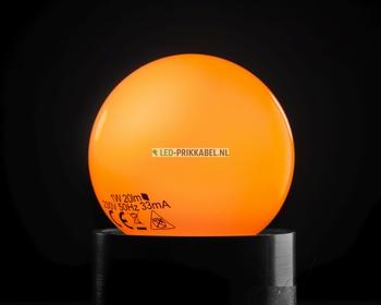 Led gekleurde lampen oranje E27