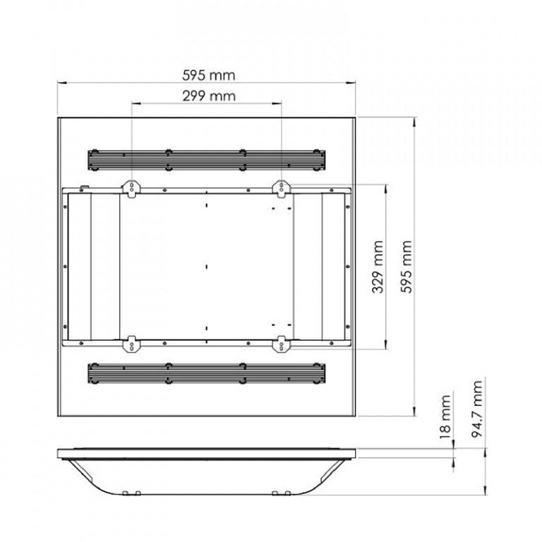 Led paneel corona CCT 60x60