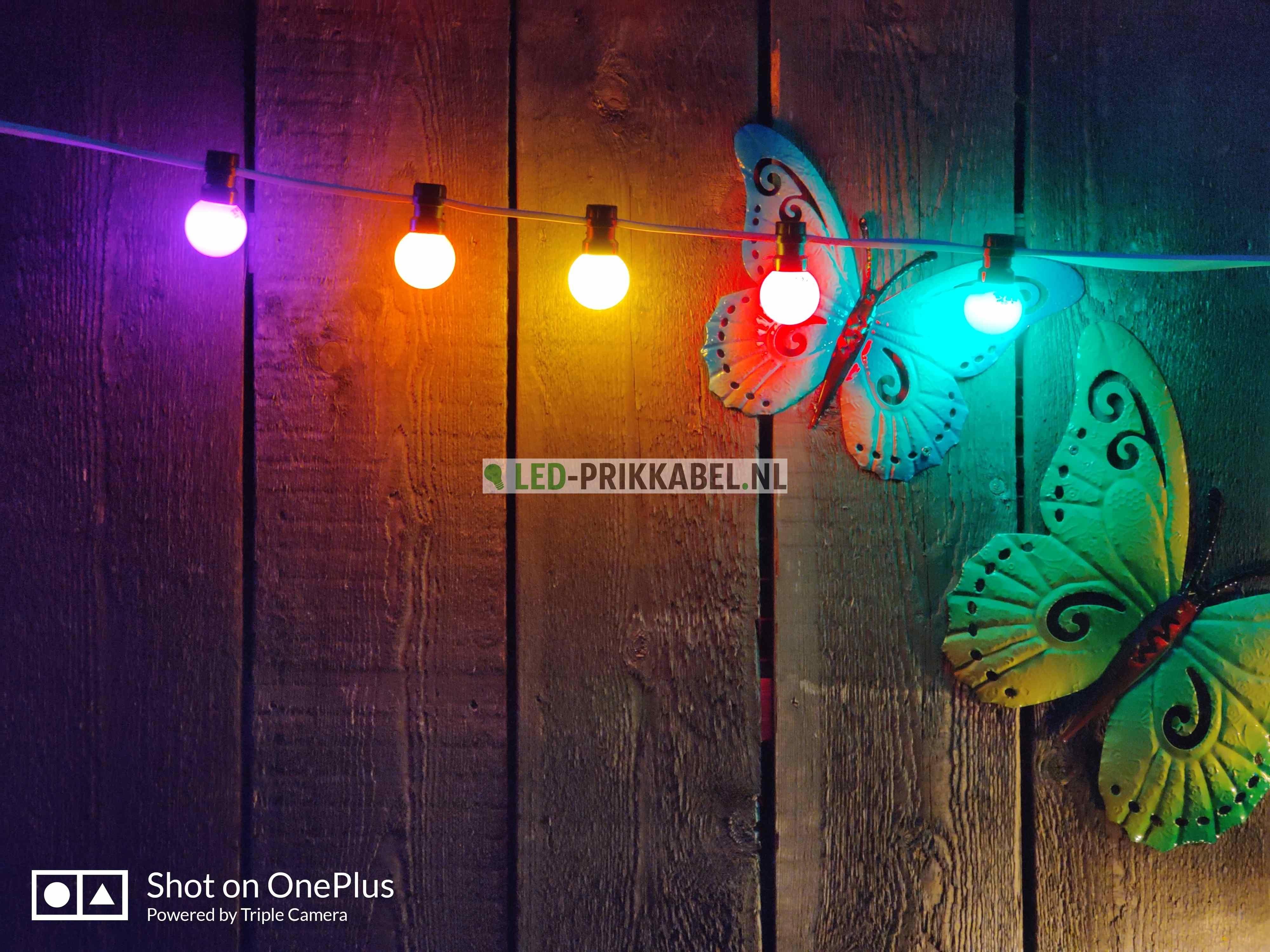 Prik-ledlamp geel IP65 1 watt