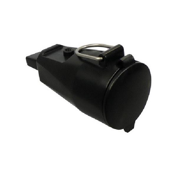 Prikkabel zwart 5 meter 5 fittingen