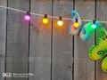 Prikkabels met verlijmde ledlamp gekleurd 50-100