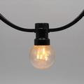 Prikkabels met verlijmde ledlamp warm wit trans.kap 50-75