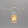Prikkabels met verlijmde ledlamp warm wit trans.kap 25-25