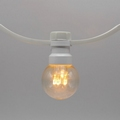 Prikkabels met verlijmde ledlamp warm wit trans.kap 50-100