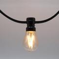 Prikkabels met verlijmde ledlamp dimbare filament led 10-10