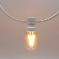 Prikkabels met verlijmde ledlamp dimbare filament led 10-20