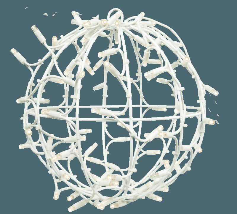 3D bal wit warm wit en twinkle 35 cm ø