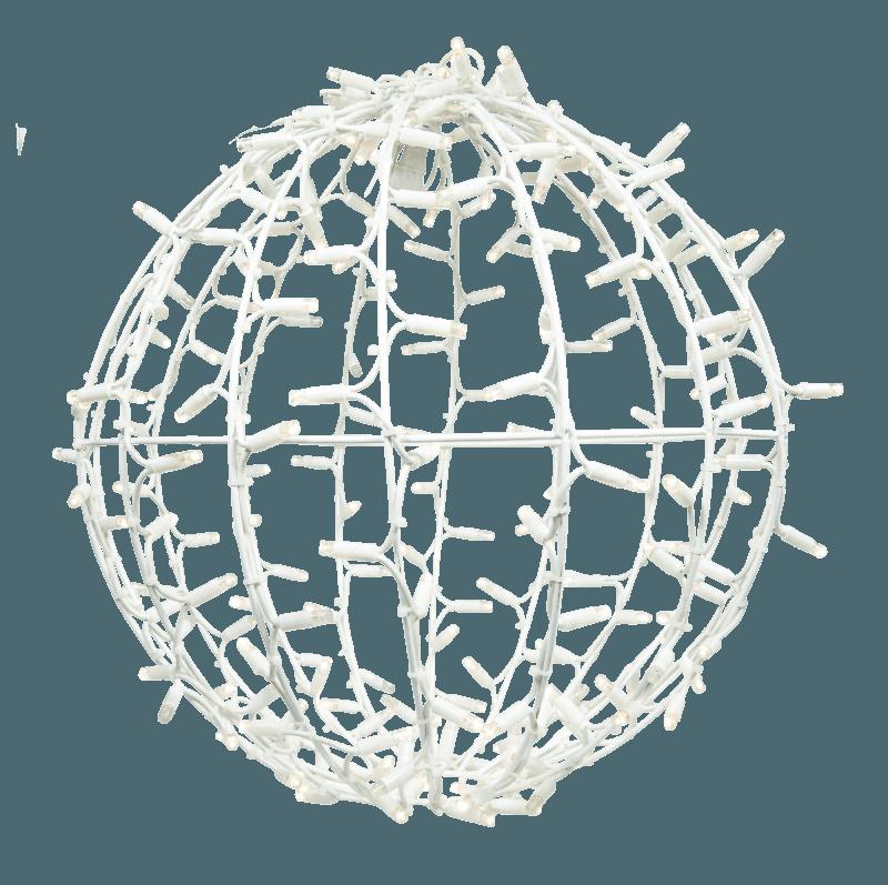 3D bal wit warm wit en twinkle 50 cm ø
