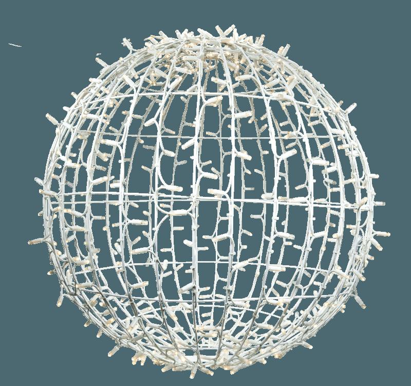 3D bal wit warm wit en twinkle 80 cm ø