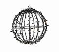 3D bal zwart warm wit en twinkle 80 cm ø
