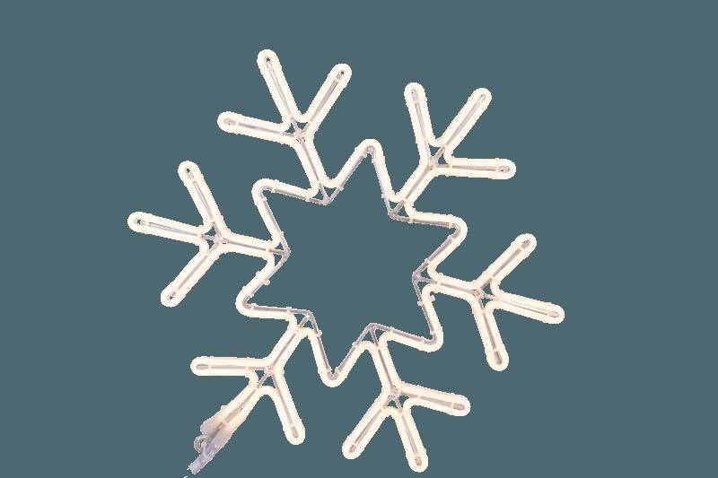 sneeuwvlok wit warm wit neon 50-43 cm