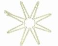 8 punt ster wit warm wit 60-60 cm