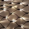 Led kerst string net warm wit 1 bij 2 meter zonder aansluits