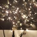 Led kerst string warm wit en blauw fonkel zonder aansluitsno