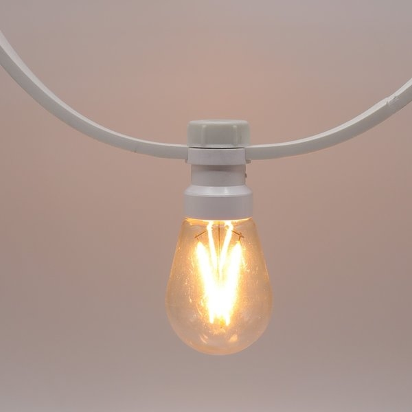Prikkabels wit 2x1,5mm² dimbare filament ledlamp