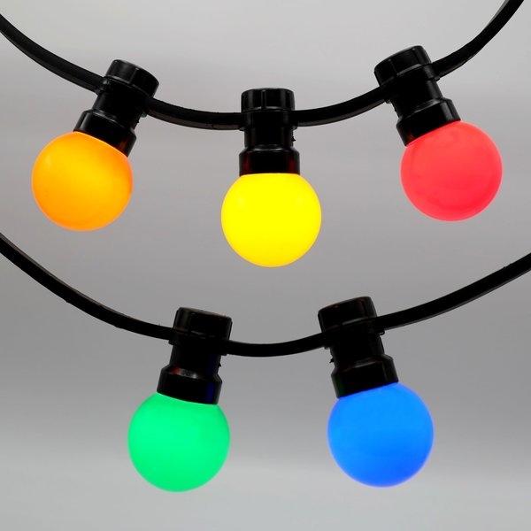 Prikkabels zwart 2x1,5mm² gekleurde ledlampen