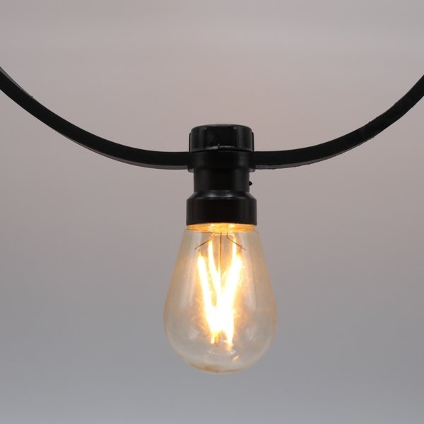 Prikkabels zwart 2x2,5mm² dimbare filament ledlamp